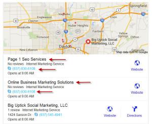 Google My Business Optimization Service in Dayton Ohio